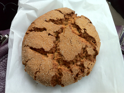 The biggest, softest ginger snap cookie I've ever eaten.