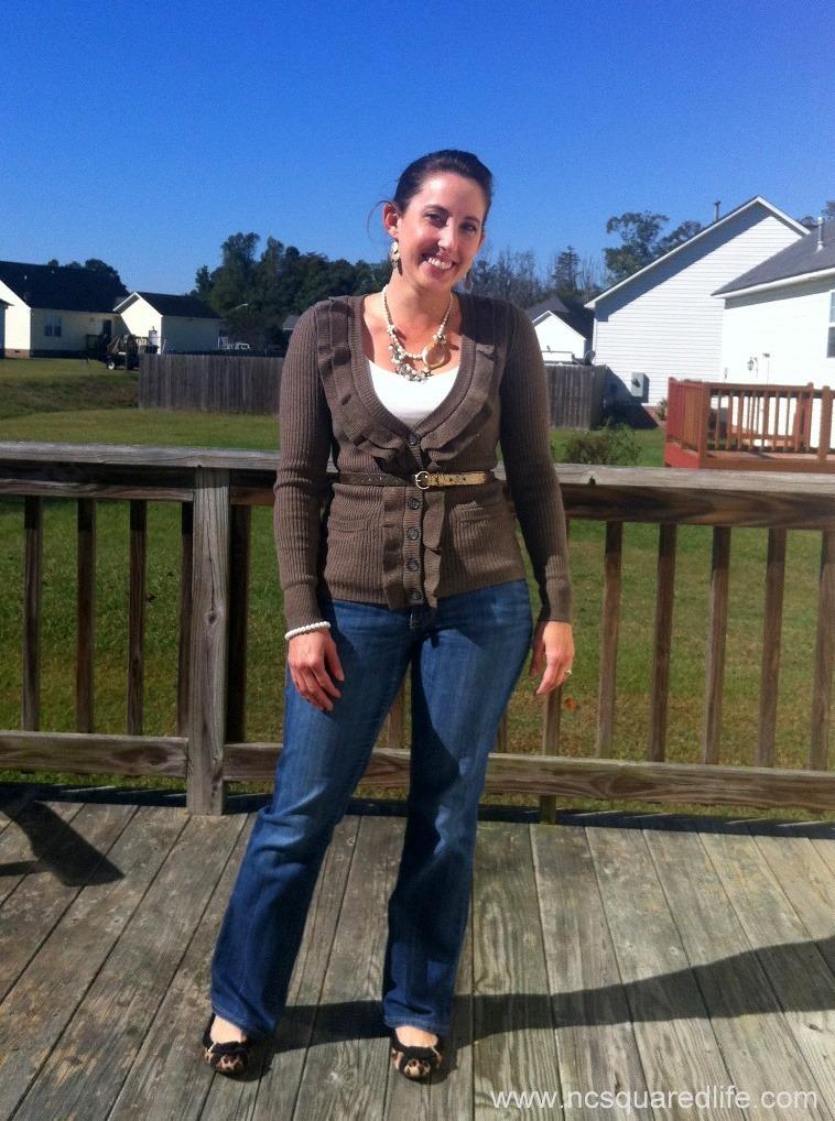 ruffle sweater, glitter belt, leopard | NCsquared Life
