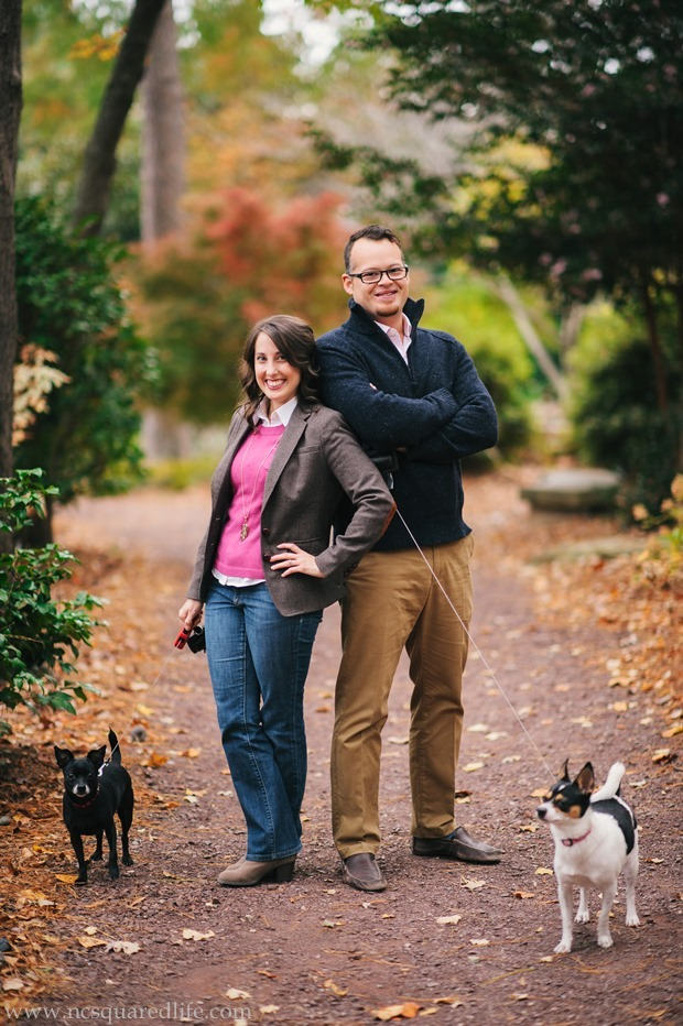 coordinated outfits for portraits in pink/navy/brown | NCsquared Life