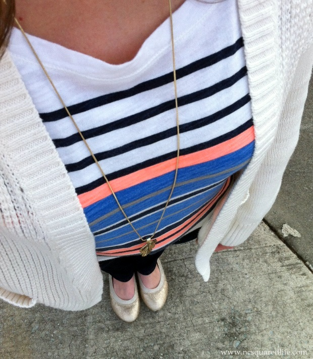 stripes and knit cardigan | NCsquared Life