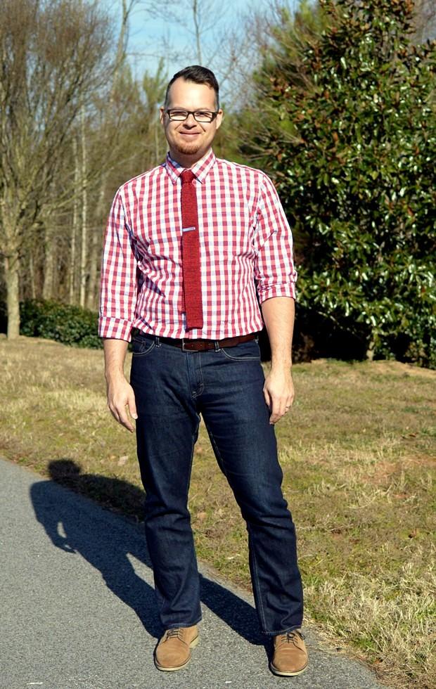 Menswear Monday: Red Checks | NCsquared Life