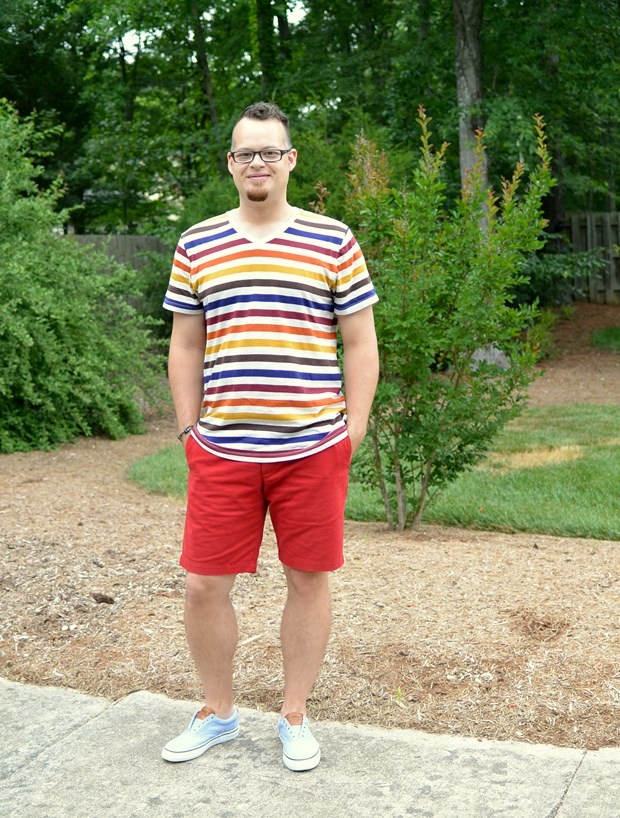 Striped Tee & Sperrys | NCsquared Life