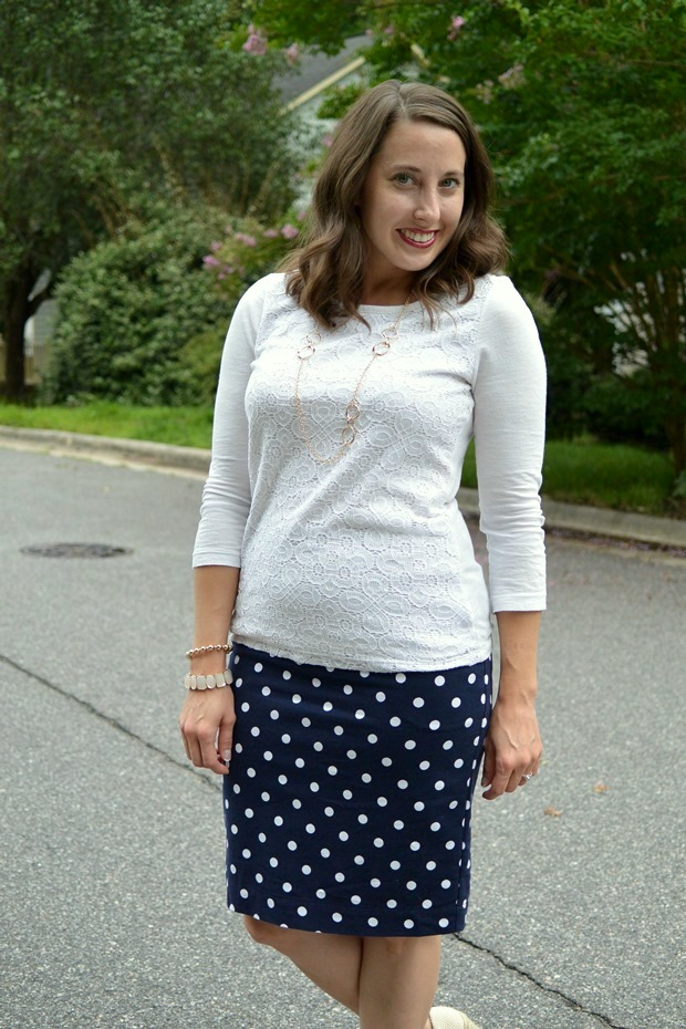 Polka Dot Pencil Skirt | NCsquared Life
