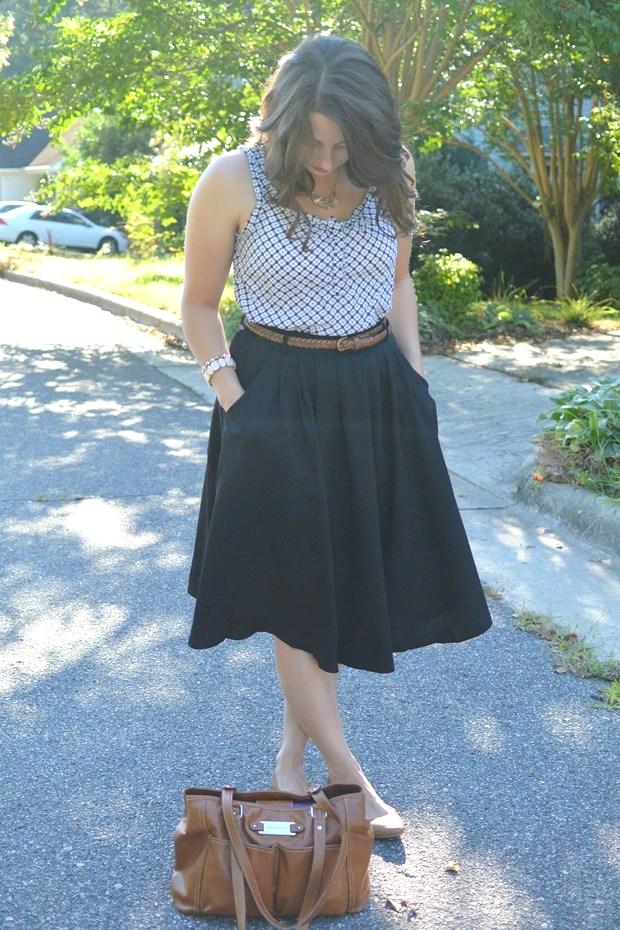 Black Midi Skirt | NCsquared Life