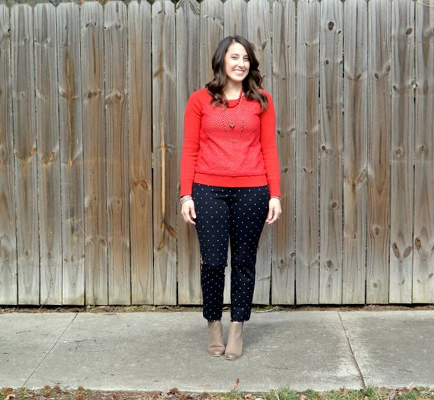 Pinspired: Red Lace-Front Sweater and Polka Dot Pixies | NCsquared Life