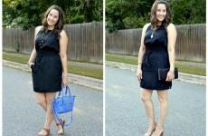 black dress collage
