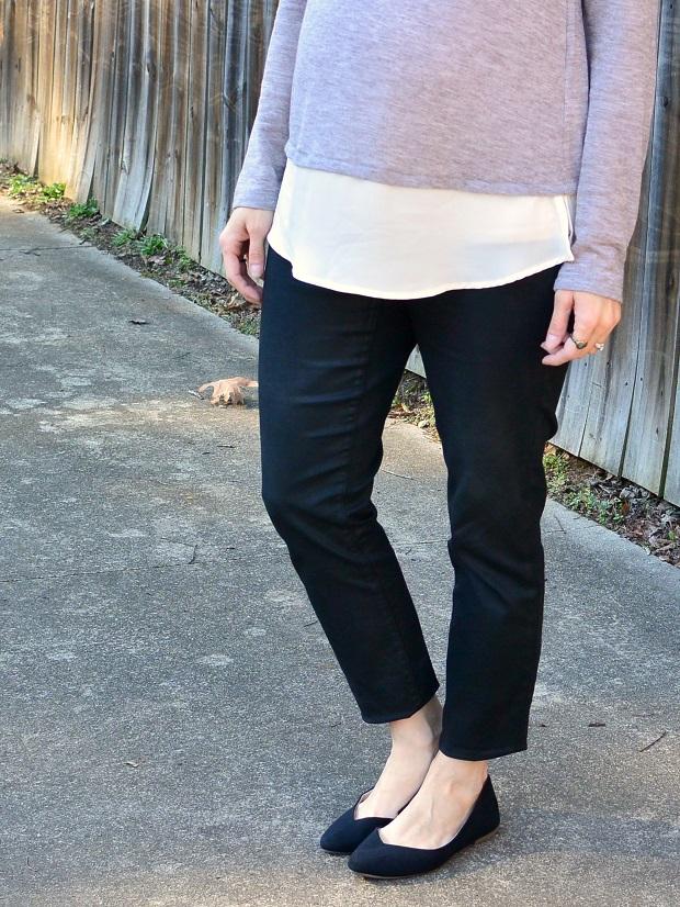 Knit Chiffon-Hem Top | NCsquared Life